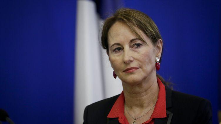 La ministre de l'Ecologie, Ségolène Royal, le 15 janvier 2015, lors de sa cérémonie de vœux à la presse organisée à Paris. (  MAXPPP)