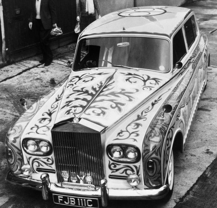 La Rolls-Royce de John Lennon, symbole de l'ère pyschédélique - 27 mai 1967, Londres  (AFP)
