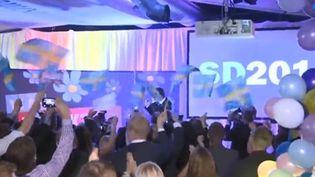 Un meeting du SD, parti suèdois d'extrême droite (France 3)