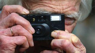 Le photographe Marc Riboud en juillet 2009  (JOEL SAGET/AFP)