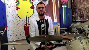 Ringo Starr, qui fut le batteur des Beatles,marqueses 80 ans lors d'une fête d'anniversaire en ligne (pour cause de coronavirus) mardi 7 juillet 2020. (RINGO STARR YOUTUBE)