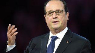 François Hollande lors d'un discours à Montpellier (Hérault), le 24 septembre 2015. (PASCAL GUYOT / AFP)