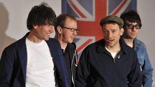 Blur en 2012 : Alex James, Dave Rowntree, Damon Albarn et Graham Coxon.  (Ben Stansall / AFP)