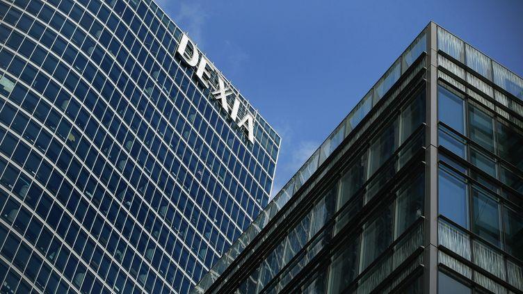La banque franco-belge Dexia, sévèrement touchée par la crise, doit être démantelée entre les deux pays. (THOMAS PADILLA / MAXPPP)