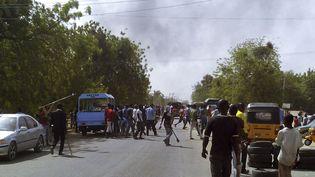 Les rues deMaiduguri (Nigeria), après l'explosion d'une bombe sur un marché, le 1er juillet 2014. (REUTERS )