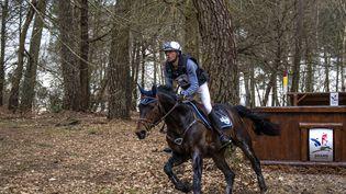 Le cavalier français Karim Laghouag lors d'un concours à Saumur (Maine-et-Loire), le 6 mars 2016. (Pierre Lecornu)