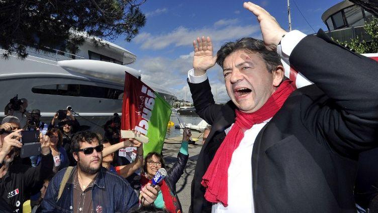 Jean-Luc Mélenchon à Antibes (Alpes-Maritimes), le 19 mai 2013. (GERARD JULIEN / AFP)