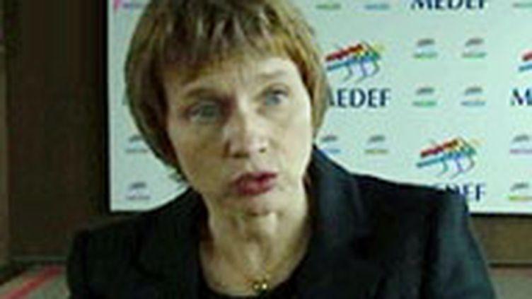Laurence Parisot, présidente du syndicat patronal du Medef (© F2)