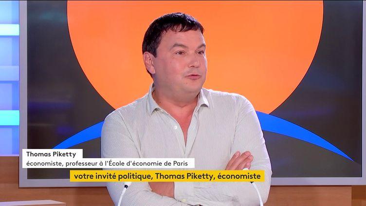 L'économiste Thomas Piketty, le 14 septembre 2021 sur la chaîne franceinfo. (FRANCEINFO)