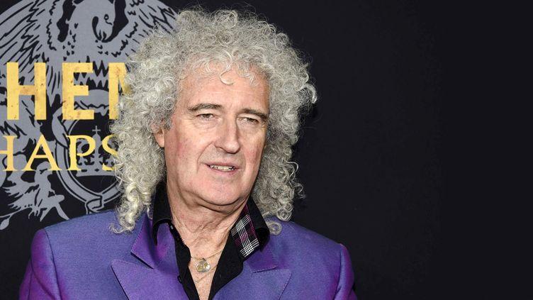 """Brian May le 30 octobre 2018 à New York pour la première du film """"Bohemian Rhapsody"""" consacré à Freddie Mercury  (Evan Agostini / AP / Sipa)"""