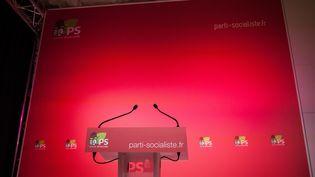 Au siège du Parti socialiste, à Paris, le 9 janvier 2017. (TRISTAN REYNAUD / SIPA)