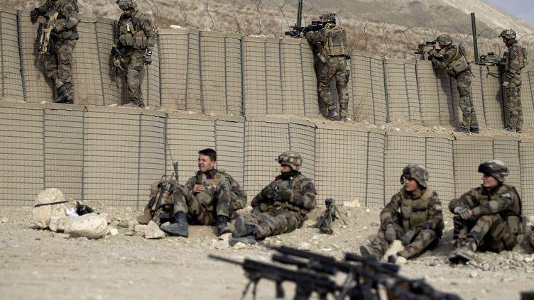 3 550 soldats Français sont toujours déployés en Afghanistan, comme ici dans la base de Tagab dans la province de Kapisa (photo prise le 28 janvier 2011.) (JOEL SAGET / AFP)