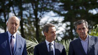 Nicolas Sarkozy et François Fillon lors des universités d'été du parti Les Républicains à La Baule (Loire-Atlantique), le 5 septembre 2015. (STEPHANE MAHE / REUTERS)