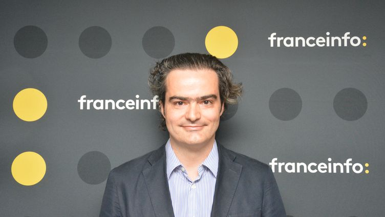 "Laurent Mauriac, cofondateur de ""Brief.eco"". (JEAN-CHRISTOPHE BOURDILLAT / RADIO FRANCE)"