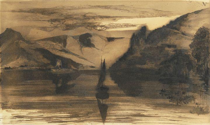"""Victor Hugo, """"La Tour des rats"""", XIXe siècle. Collection Prat. (© Westimage Art Digital Studio)"""