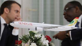 Maquette de l'airbus A330-900 acheté par la nouvelle compagnie Air Sénégal SA. (POOL New /Reuters)