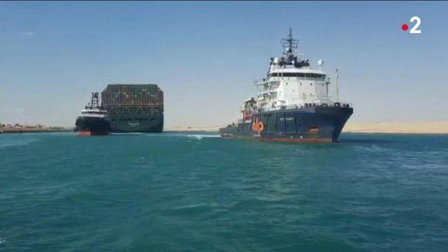 Canal de Suez : le passage à nouveau ouvert au trafic maritime