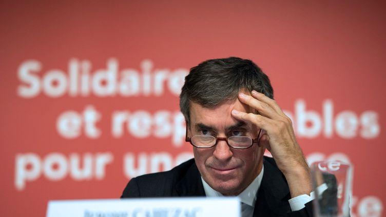 Le ministre du Budget, Jérôme Cahuzac, pendant la présentation du budget 2013, le 28 septembre 2012 à Paris. (BERTRAND LANGLOIS / AFP)
