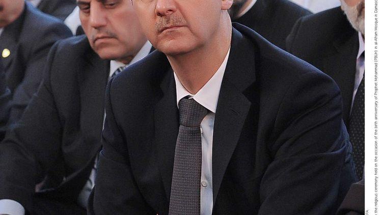 Bachar Al-Assad à Damas, le 24 janvier 2013. (AY COLLECTION / SIPA)