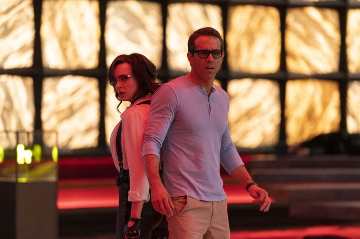 "Ryan Reynolds et Jodie Comer dans ""Free Guy"" deShawn Levy (2021). (20TH CENTURY FOX)"