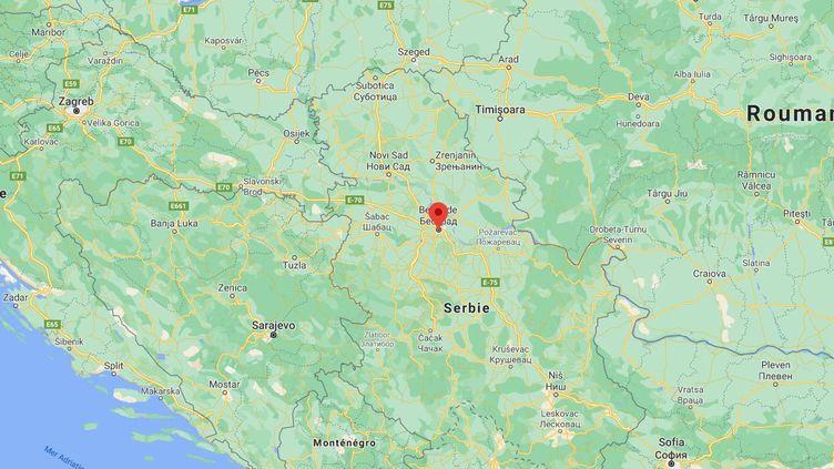 Les autorités serbes ont découvert un millier de personnes dans une boîte de nuit du centre de Belgrade, le 13 février 2021. (GOOGLE MAPS)