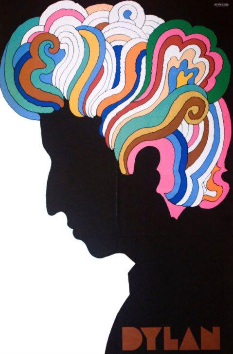 Ce poster psychédélique de la silhouette de Bob Dylan signé du graphiste Milton Glaser en 1967, est entré selon le New York Times dans 6 millions de foyers dans le monde. (MILTON GLASER)