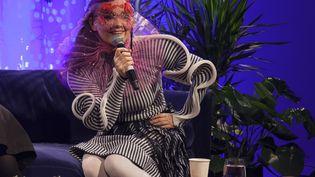 La chanteuse islandaise Björk répond à des questions à Montréal (Canada), le 26 octobre 2016. (RED BULL CONTENT POOL / SIPA)