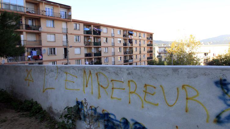 Le quartier des Jardins de l'Empereur, à Ajaccio (Corse-du-Sud), le 28 décembre 2015. (PASCAL POCHARD-CASABIANCA / AFP)