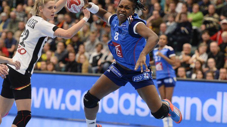 Laurisa Landre, joueuse de l'équipe de France (JONATHAN NACKSTRAND / AFP)