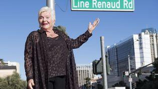 L'artiste Line Renaud inaugure la rue à son nom, le 29 septembre 2017, à Las Vegas (Etats-Unis). (VALERIE MACON / AFP)