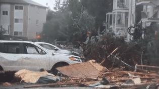 Unetornade a dévasté un quartier à l'est d'Ottawa (Canada) (CAPTURE D'ÉCRAN FRANCE 3)