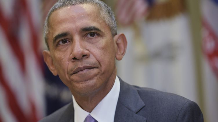 Le président américain Barack Obama évoque l'éccord nucléaire iranien le 10 septembre 2015 à la Maison blanche. (MANDEL NGAN / AFP)