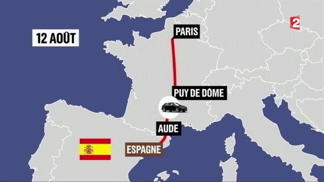 Catalogne : le parcours des terroristes en France