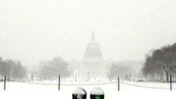 Washington sous la neige, mercredi 11 février 2010. (France 3)