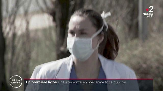 Coronavirus: le baptême du feu difficile des internes