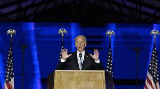 Joe Biden, le 7 novembre 2020 à Wilmington (Delaware). (ANDREW HARNIK / POOL / AFP)