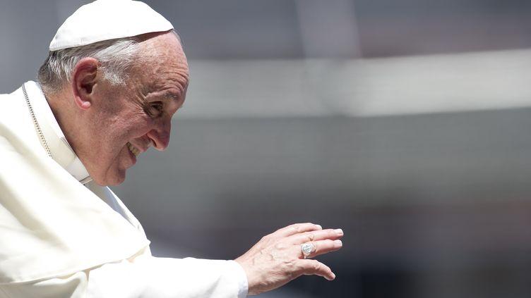 Le pape François, le 19 juin 2013, au Vatican. (TIZIANA FABI / AFP)