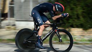 Rohan Dennis ermporte le prologue du Tour de Romandie, mardi 27 avril. (JOSEP LAGO / AFP)
