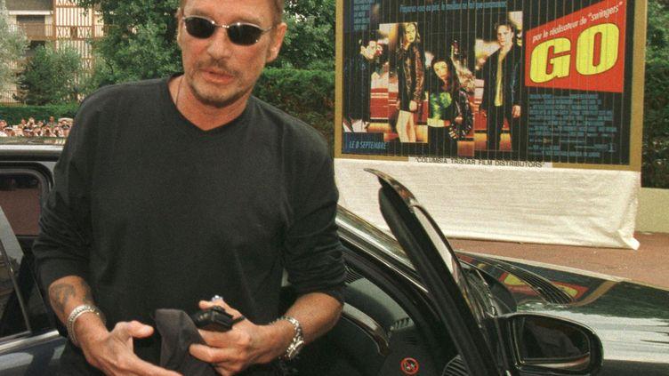 Johnny Hallyday à l'Hotel Royal à Deauville, le 7 septembre 1999. (MYCHELE DANIAU / AFP)