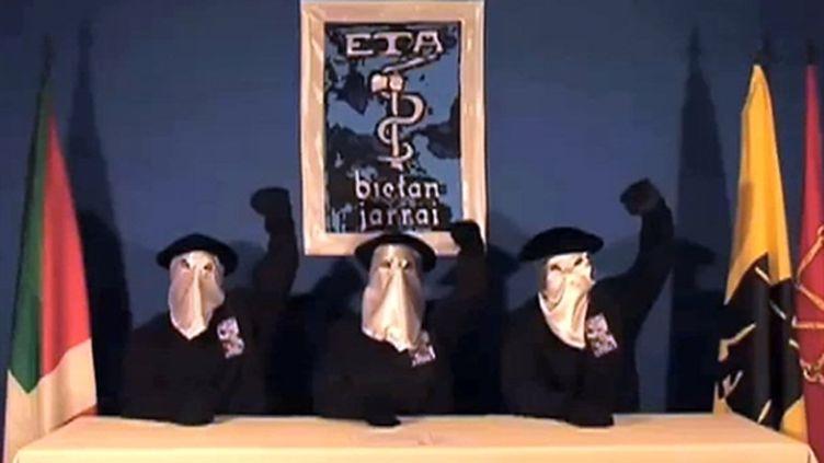 L'ETA annonce un cessez-le-feu, dimanche 5 septembre 2010 à Guernica (Espagne). (AFP - BBC - Gara)