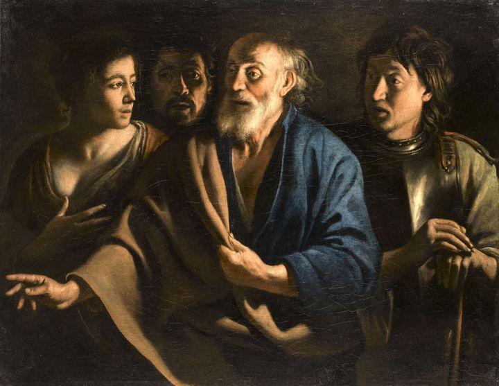 """Mathieu Le Nain, """"Le Reniement de saint Pierre"""", vers 1655, Paris, musée du Louvre  (RMN-Grand Palais (musée du Louvre) / Stéphane Maréchalle)"""