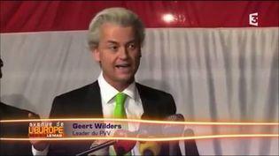 Geert Wilders, le leader de l'extrême droitehollandaise (FRANCE 3 / FRANCETV INFO)