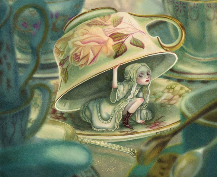 """Détail """"Illustration Alice au pays des merveilles""""  (Benjamin Lacombe / Soleil)"""