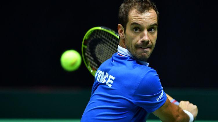 Le joueur français Richard Gasquet (ANDREJ ISAKOVIC / AFP)
