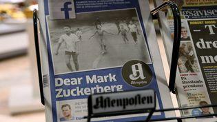 """Une lettre ouverte à Facebook en une du journal norvégien """"Aftenposten"""" vendredi 9 septembre 2016.  (Cornelius Poppe/AP/SIPA)"""