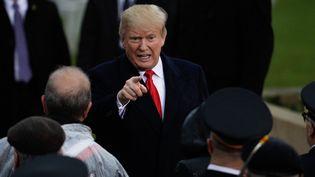Le président américain Donald Trump, le 11 novembre 2018 à Paris. (Geoffroy VAN DER HASSELT / AFP)
