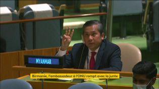 L'ambassadeur de la Birmanie à l'ONU soutient les opposants à la junte militaire (FRANCEINFO)