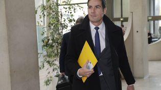 Le PDG de Radio France, Mathieu Gallet, lors de son arrivée au palais de Justice de Créteil (Val-de-Marne), le 16 novembre 2017. (THOMAS SAMSON / AFP)