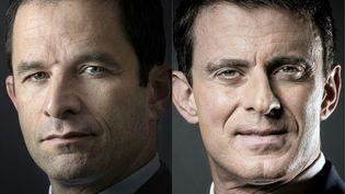 Benoît Hamon et Manuel Valls, les deux finalistes de la primaire à gauche (AFP)