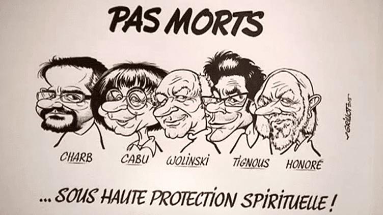 Un des dessins exposés à Caricat à Orléans, en hommage à Charlie Hebdo  (France 3 Culturebox (capture vidéo))